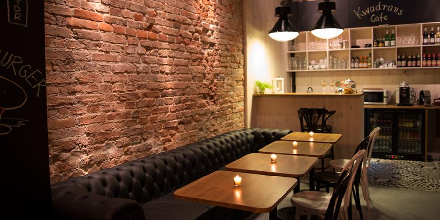 Projekt wnętrz Kwadrans Cafe w Warszawie 2014r. autor: Mateusz Brajczewski, fot. Szymon Lorenc